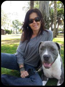Brandi, Deuce, amstaff, family, photo, behaviorist, trainer